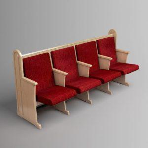 ספסל עם שולחן אחורי (קדמי)