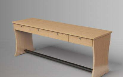 שולחן עץ - לביא ריהוט לבתי כנסת